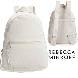 NWT Rebecca Minkoff Dome Nylon Backpack in Bone